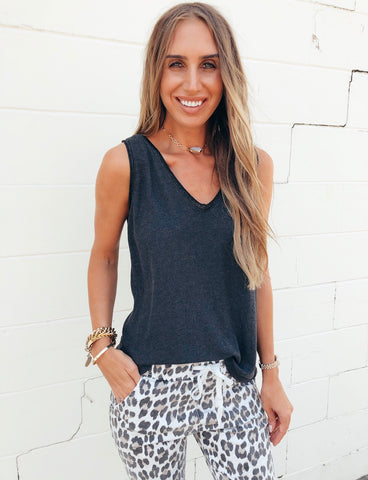 The Shimmer Trim Top