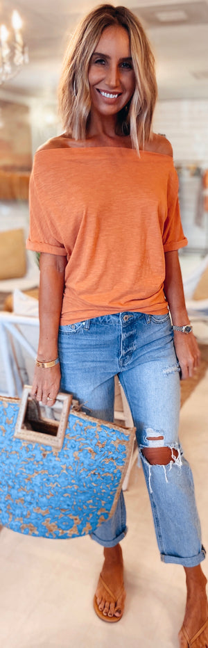 The Melon Off Shoulder Tee