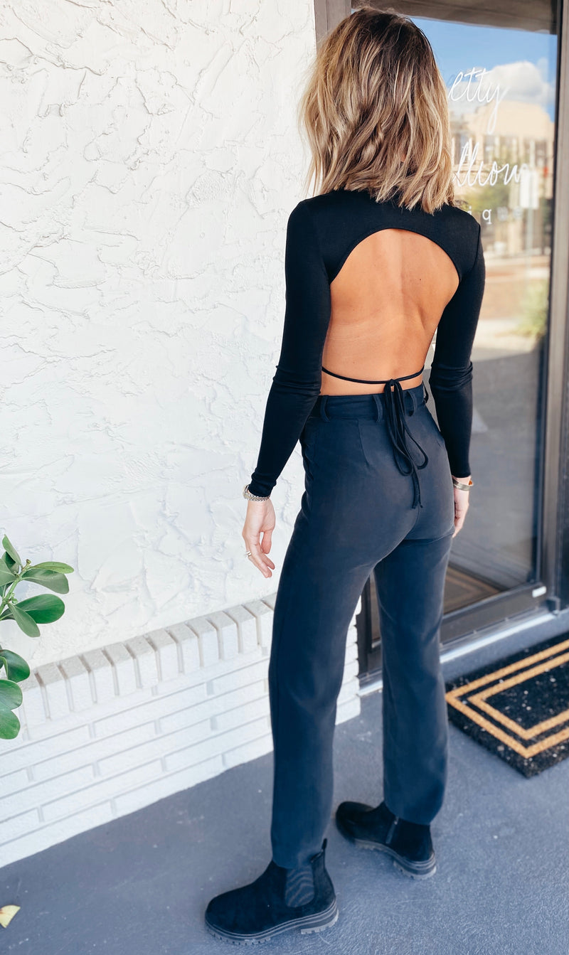The Look Back Backless Long Sleeve