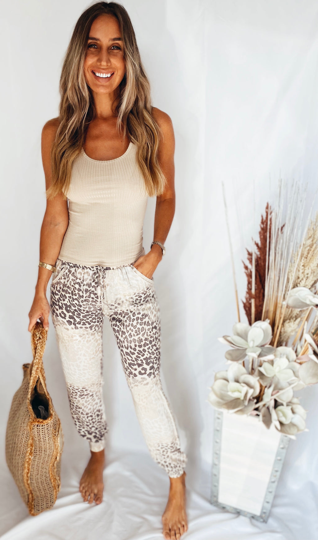The Sandy Leopard Joggers