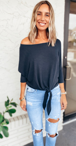 The Deep Indigo Tie Top