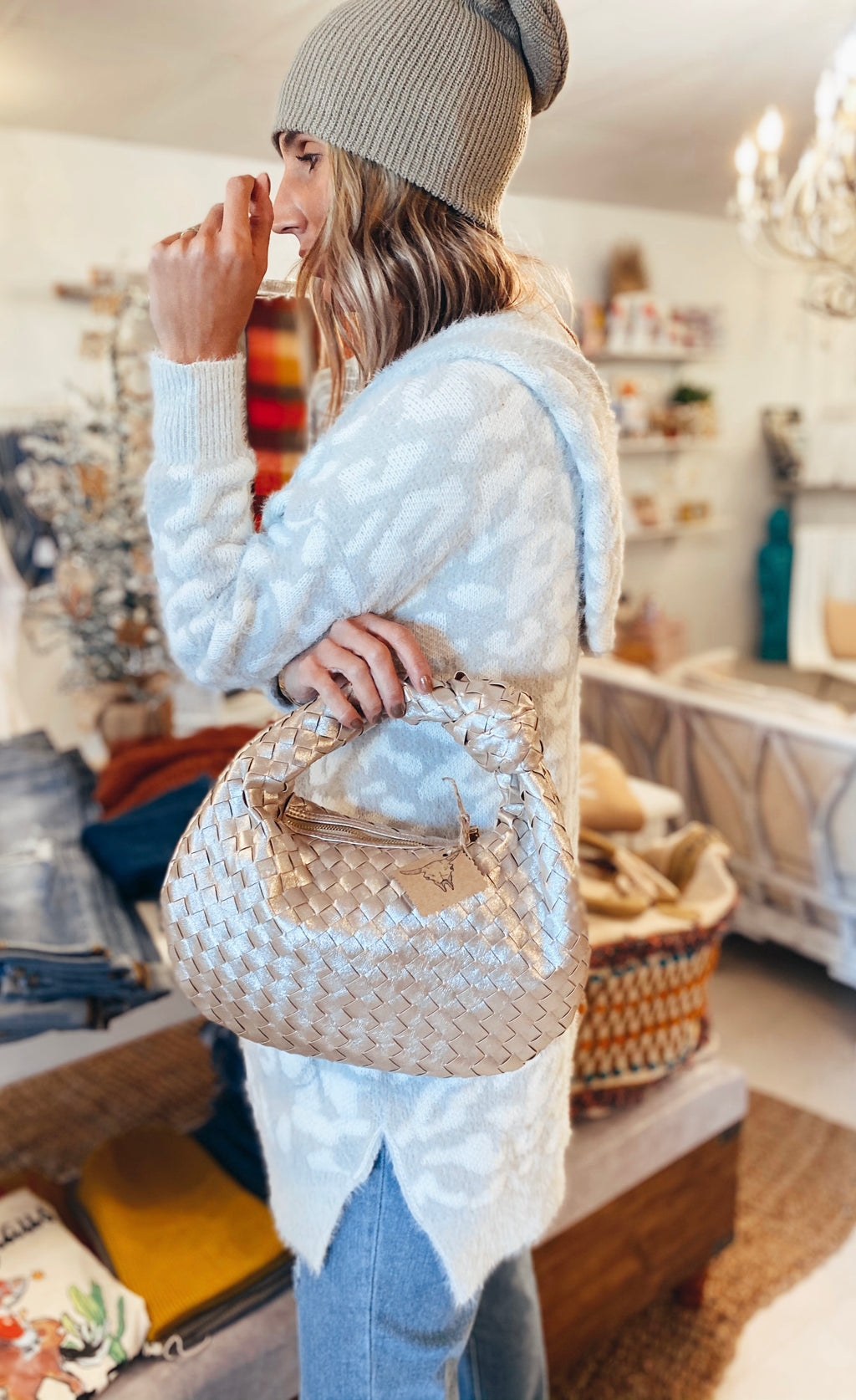 The Champagne Woven Bag