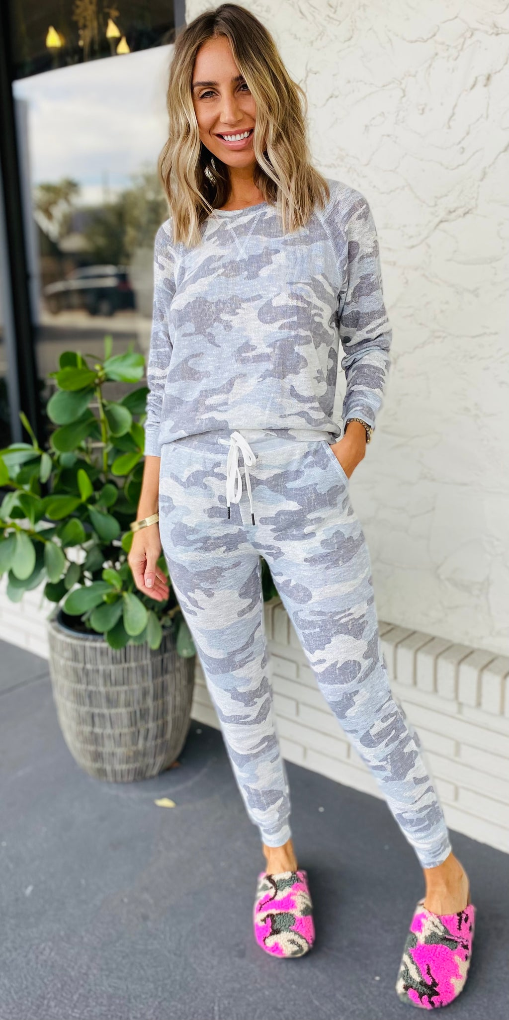 The Luxe Sage Camo Set