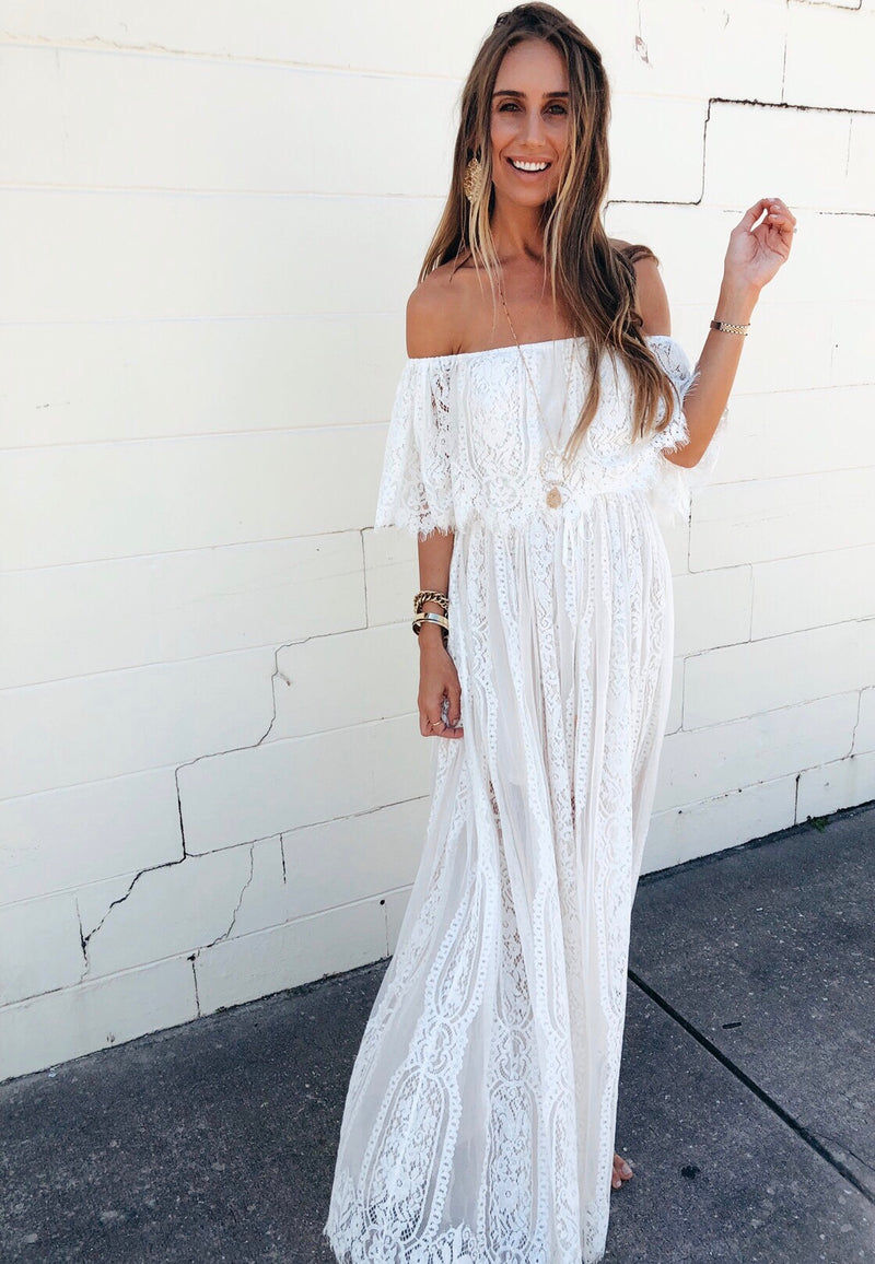 The Sand Angel Lace Maxi