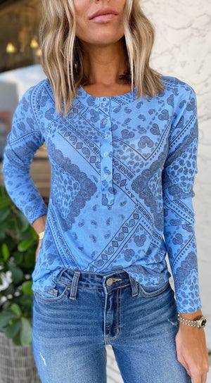 The Baby Blues Paisley Henley