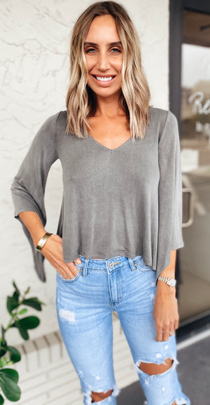 The Wash Charcoal Top
