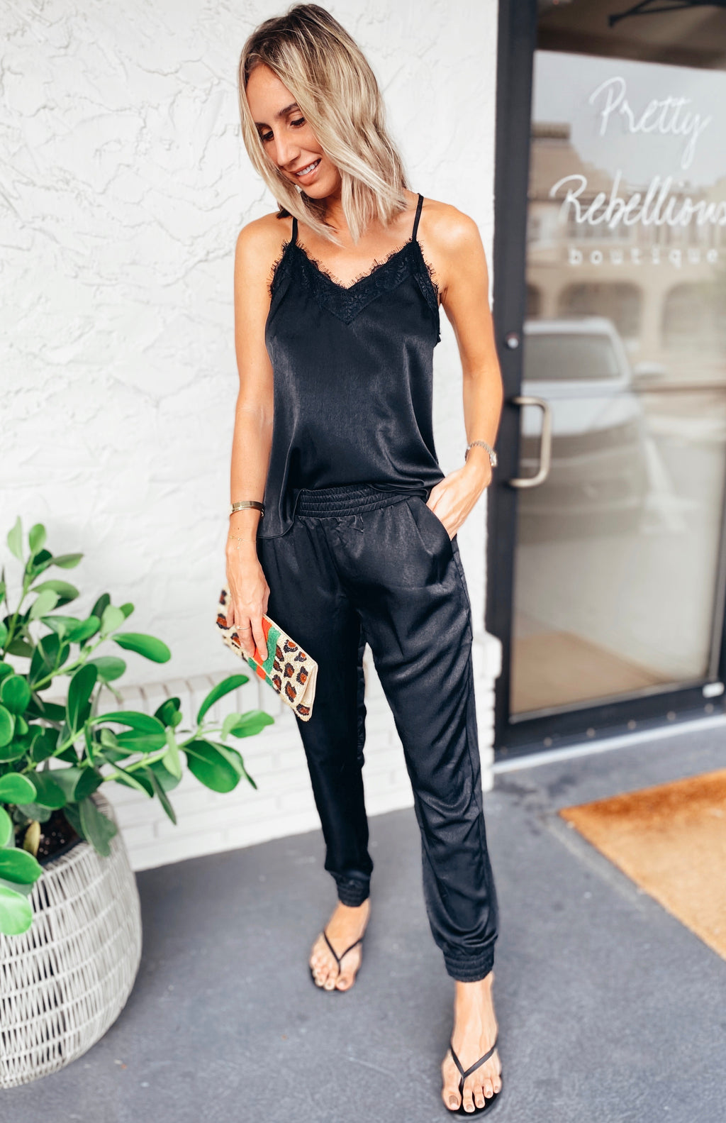 The Carmen Jogger Black Pants