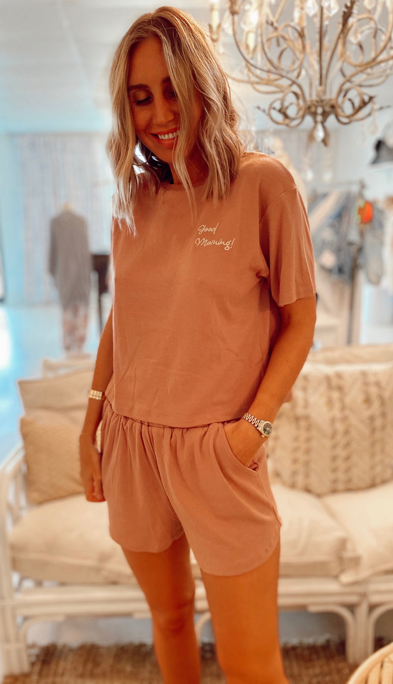 The Good Morning! PJ Set (two colors)