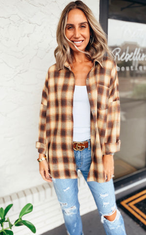 The Pecan Plaid Flannel