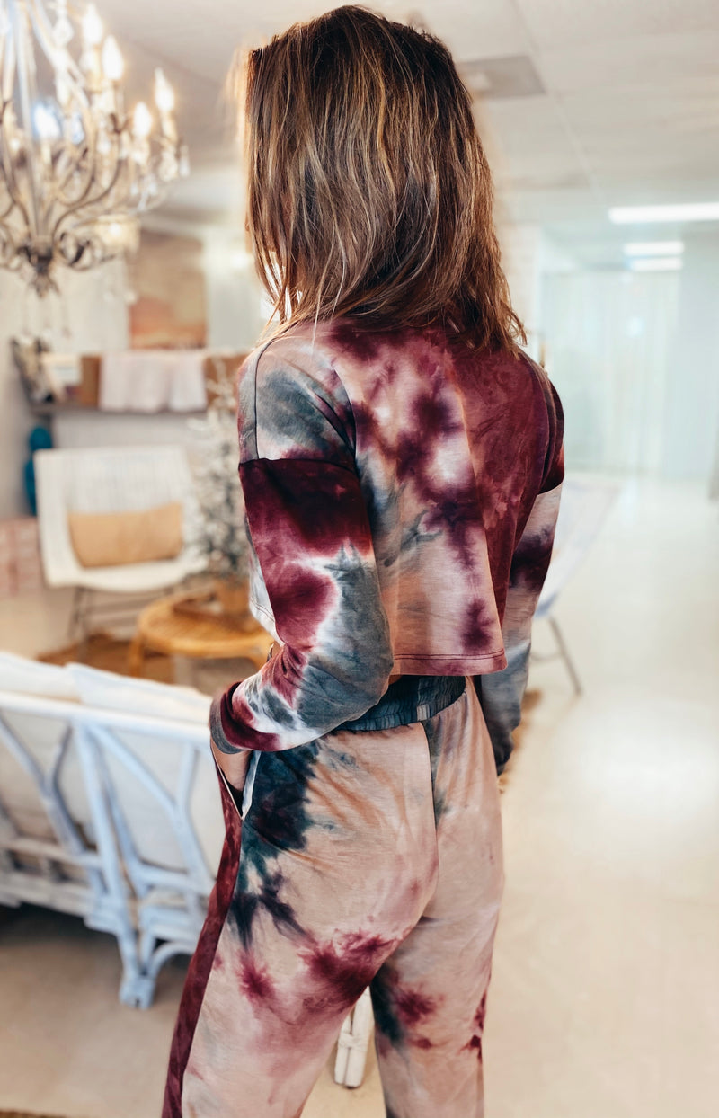 The Raspberry Tie Dye Top