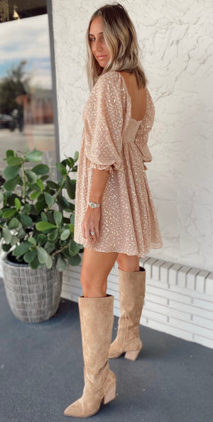 The Golden Hour Babydoll Dress