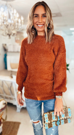 The Cozy Up Sweater Rust