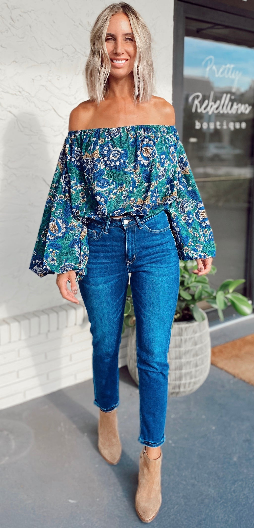 The Emerald Paisley Top