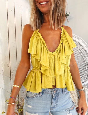 The Paw Ruffle Top