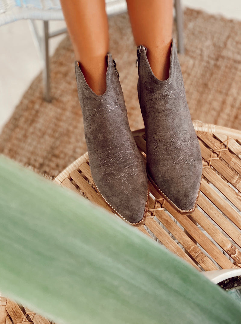 The Slate Cowgirl Booties
