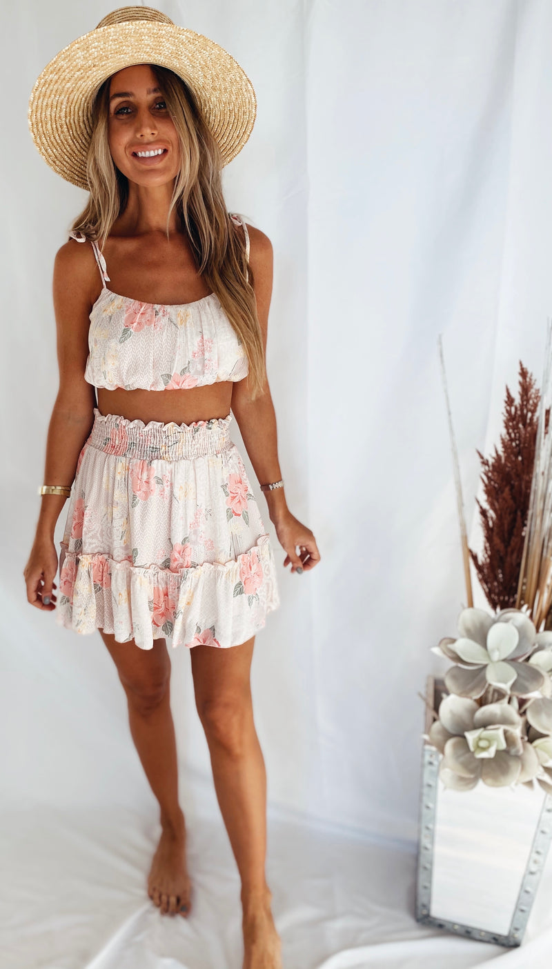 The Stardust Floral Skirt Set