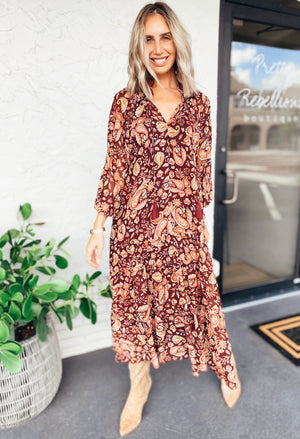 The Harvest Moon Paisley Dress