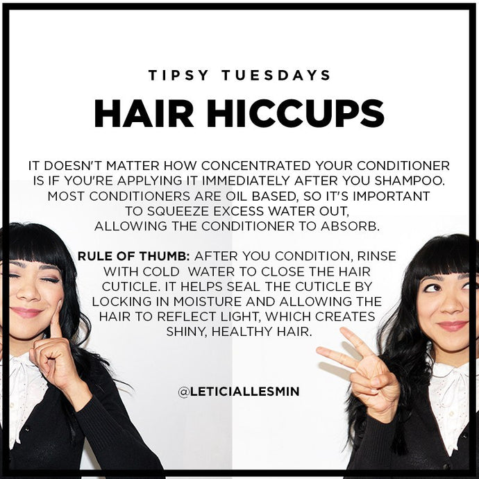 Tipsy Tuesday: Common Hiccups, Dry Hair.