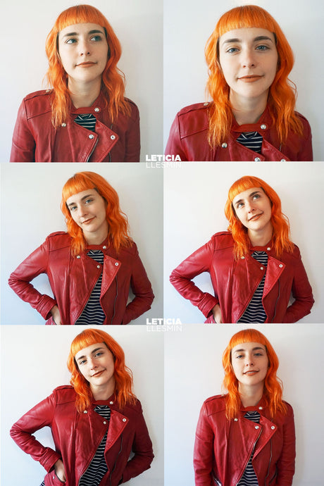 Fiery Orange x Manicured Bangs
