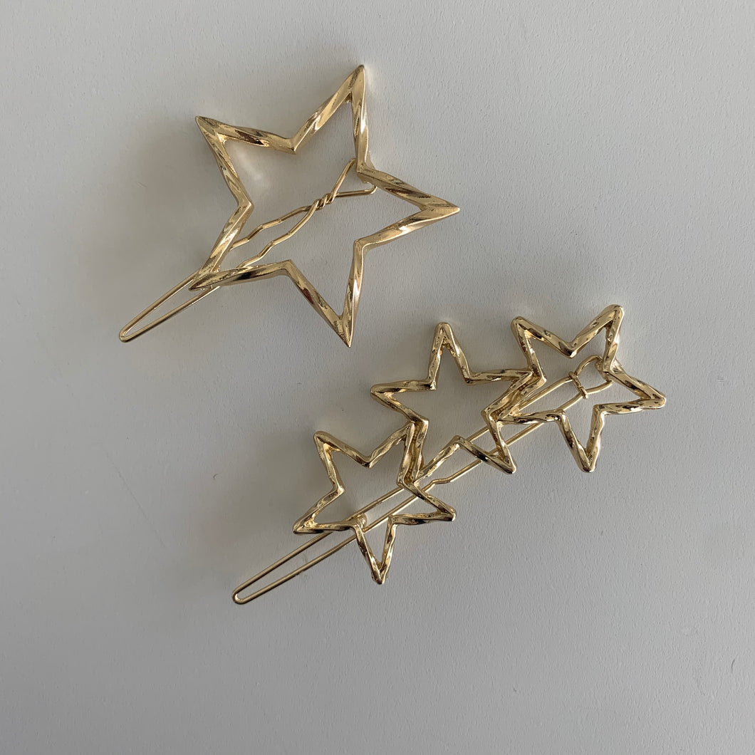 Gold Star Hair Clips