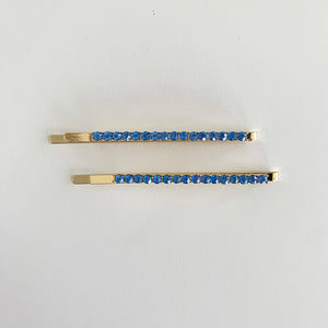 Blue Rhinestone Hair Pin