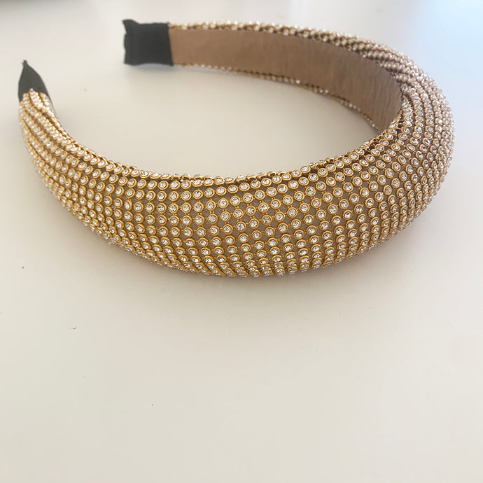 Gold Padded Diamond Headband