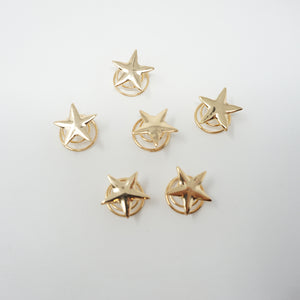 Gold Star Hair Screw Clips