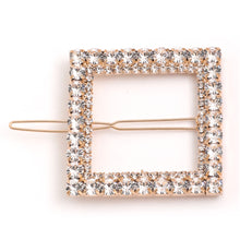 Load image into Gallery viewer, Rhinestone Square Hair Clip