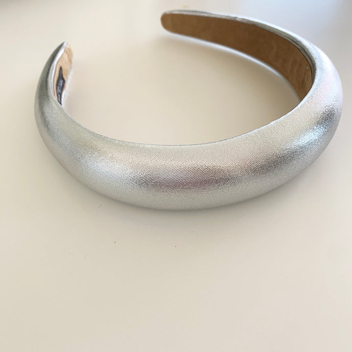 Silver Metallic Padded Headband