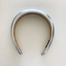 Load image into Gallery viewer, Silver Metallic Padded Headband