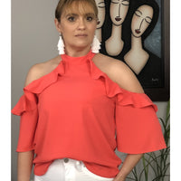 Coral cold shoulder top 10