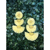 Raffia Melon earrings