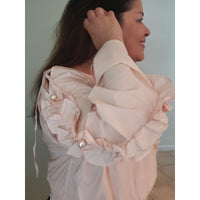 Pearls all around blouse