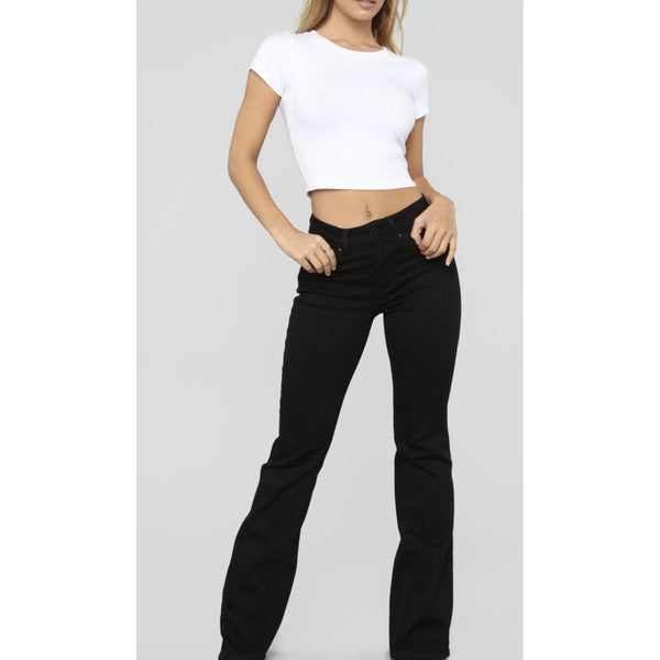 Class Act Black BOOT cut leg/ Flare Jeans 07