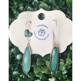 Aqua Acrylic earrings