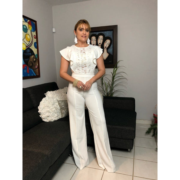 White Evening Jumpsuit- BLACK FRIDAY DISCOUNT APPLIED