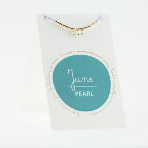 June Birthstone Bracelet, Pearl