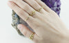 18ct Gold Delicate Kim Granulation Rings