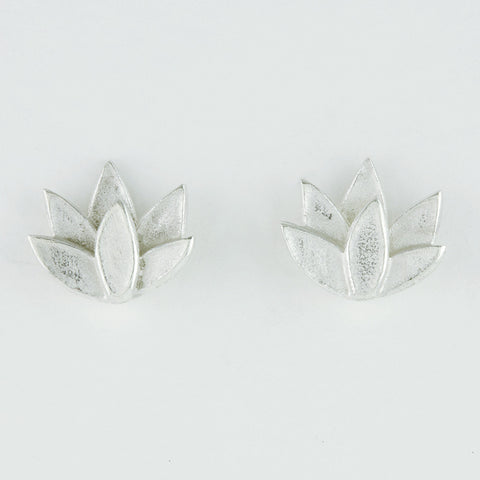 Deepa Stud Silver Earrings