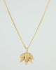 Deepa Flower Pendant Necklace 18ct gold plate