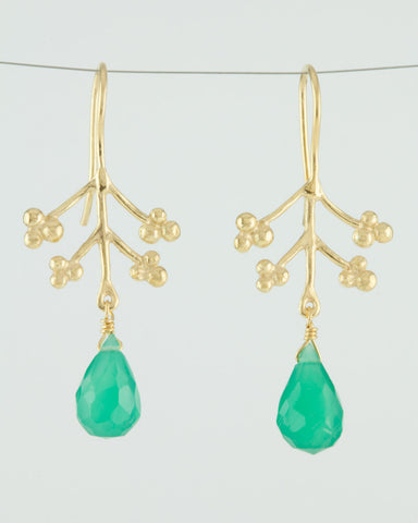 Mai Blossom Gemstone Drop Earrings