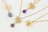 Deepa Flower Necklace with Gemstone