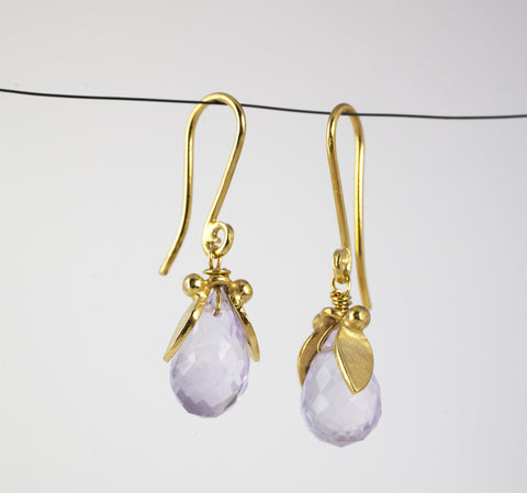 Phoebe Leaf Earrings 18ct Gold Plate