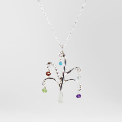 Maple Tree Family of Five Necklace