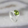 Oval Peridot Stone Set Ring