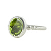Silver Peridot Granulation Ring