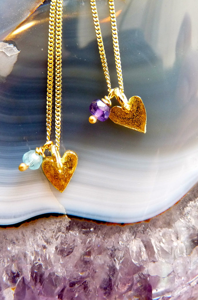 Delicate 18ct Gold Plate Heart Necklace