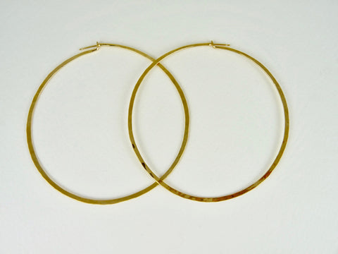 Mikki Hand forged Hoops Extra Large