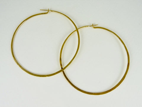 Michela Hand Forged Large Hoops