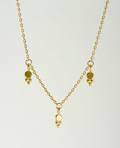 Araminta Dotted Delicate Granulation Necklace
